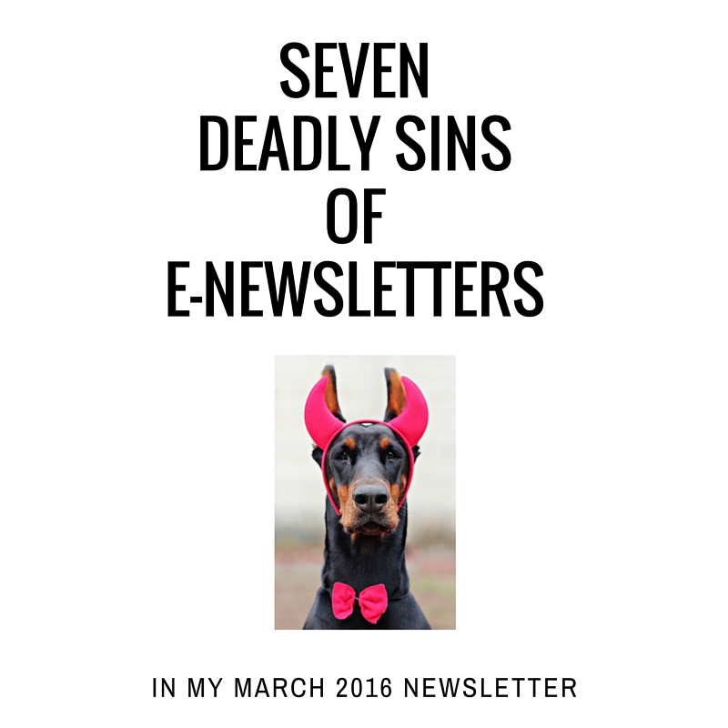 7 deadly sins of e-newsletters