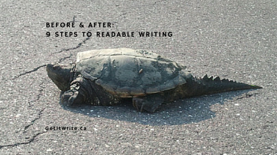 9 steps to readable writing