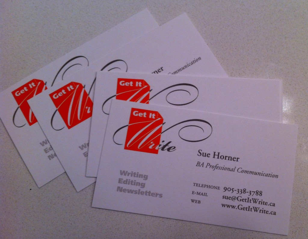 You still need a business card