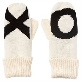 Bold typography mittens