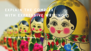 Explain the complex with expressive writing