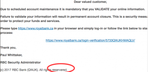 Beware of phishing