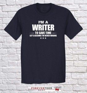 I'm a writer tee