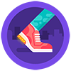 Fitbit's High Tops badge