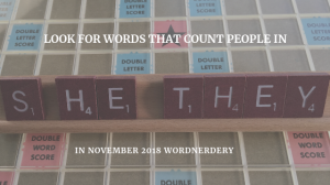 Inclusive words on Scrabble tiles