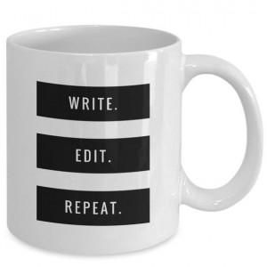 Write. Edit. Repeat mug