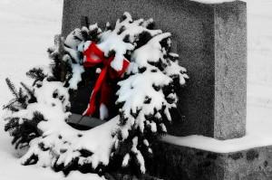 Wreath on headstone