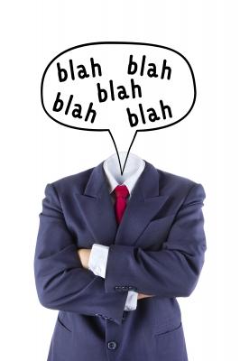 Jargon sounds like blah-blah