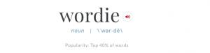 'Wordie' screen shot