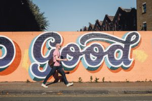 The word 'good' as graffiti
